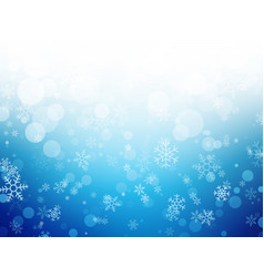 white blue winter christmas background with vector image