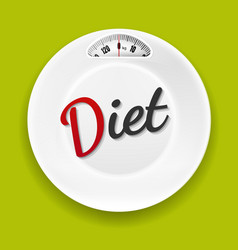 white plate with weight scale vector image