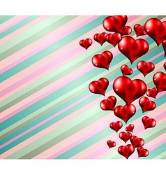Lovely striped Valentines day themed background vector image vector image