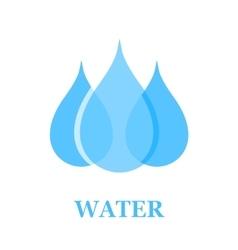 water drop sign vector image vector image