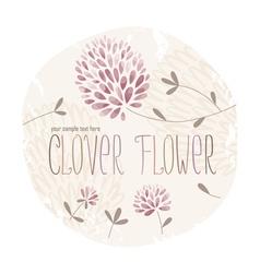 Clover circle vector image