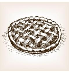 Pie hand drawn sketch style vector image vector image
