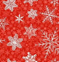 snowflakes on red background vector image vector image