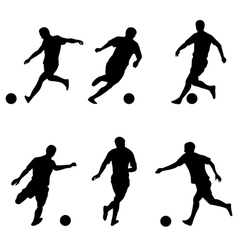 Soccer football players silhouettes vector image