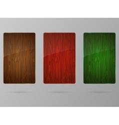 Wood framework set vector image vector image