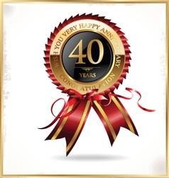 40 years anniversary label vector image