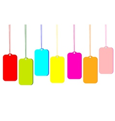 Blank colorful tags vector image