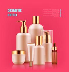 cosmetic bottle realistic vector image