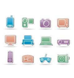 electronic appliances icons vector image