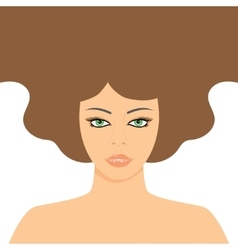 Fashion Woman with Long Hair vector image