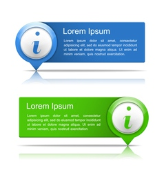 Information Banners vector image vector image