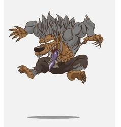 Cartoon werewolf and vector image