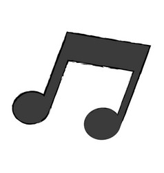 music note melody sound icon vector image vector image