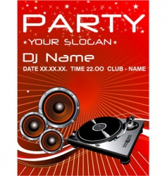 party flyer vector image vector image