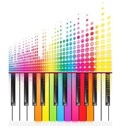 rainbow keys of piano vector image vector image