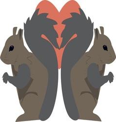 Squirrel Love vector image
