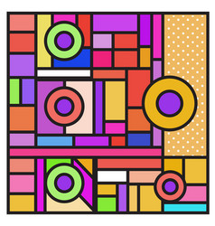 Abstract geometric colorful background memphis vector