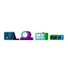 alarm clock cartoon kids clockface clocked vector image