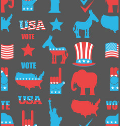 American elections seamless pattern republican vector