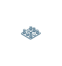 Architecture history ruins isometric icon 3d line vector