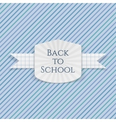 Back to School greeting Emblem vector