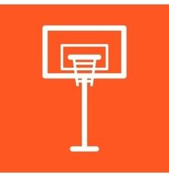 Basketball Post vector image