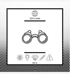 Binoculars line icon vector