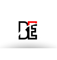 black white alphabet letter be b e logo icon vector image