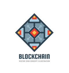 blockchain - concept logo template vector image