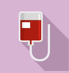 blood package icon flat style vector image