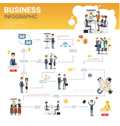 business infographics set with copy space for vector image
