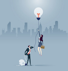 Businessman and woman created different ideas vector