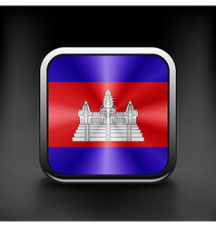 Cambodia icon flag national travel icon country vector