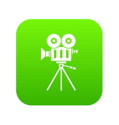 camcorder icon digital green vector image