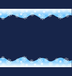 christmas border blue white wave border up and vector image