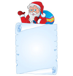 Christmas thematic parchment 3 vector