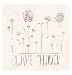 Clover meadow vector image