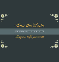 Collection stock of wedding invitation card vector