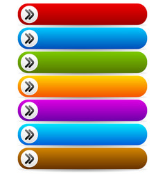 colorful rounded rectangle buttons with arrows vector image