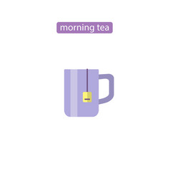 cup flat icon tea time image vector image