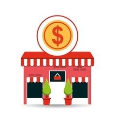 cute store shopping money dollar vector image