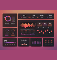 dashboard ux analytics data infographic with vector image