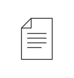 document outline icon vector image