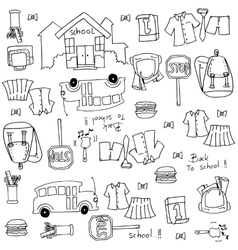 Doodle of collection school education vector