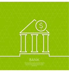 Financial institution with a coin vector image