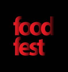 Food fest logo template design vector