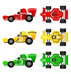 Formula car set vector
