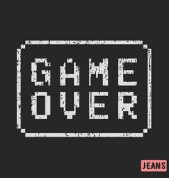 game over print design vector image