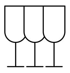 Glasses thin line icon stemware vector