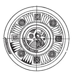 greek circular panel is found on a vase vintage vector image